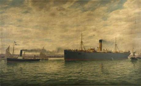 Cockerham, Charles, active c.1900-1935; SS 'Winkfield' Bound for South Africa with Troops, July 1890